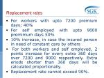 replacement rates1