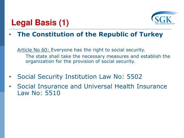 Legal Basis (1)