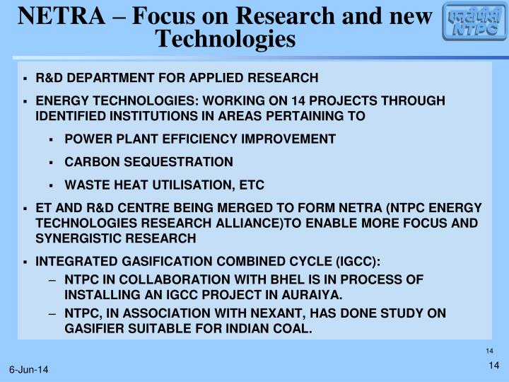 R&D DEPARTMENT FOR APPLIED RESEARCH