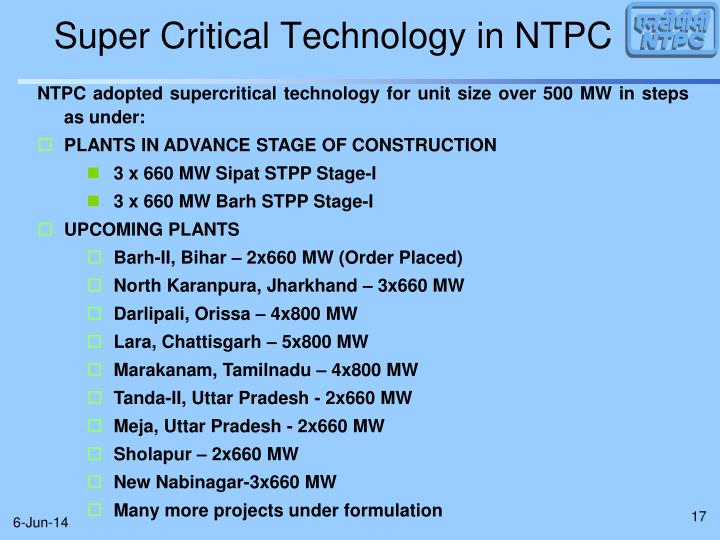 Super Critical Technology in NTPC