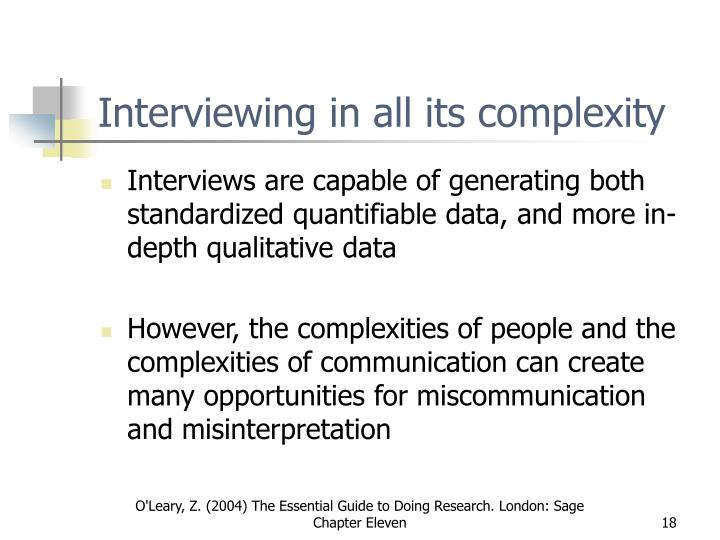 Interviewing in all its complexity