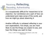 receiving reflecting recording authenticating1