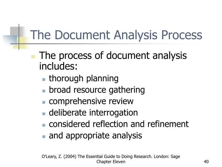 The Document Analysis Process