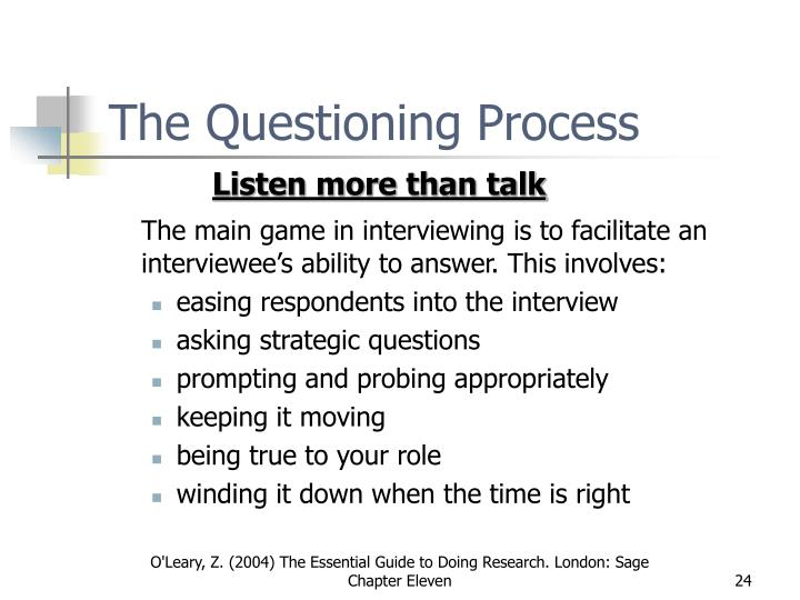 The Questioning Process