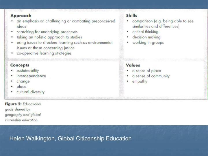 Helen Walkington, Global Citizenship Education