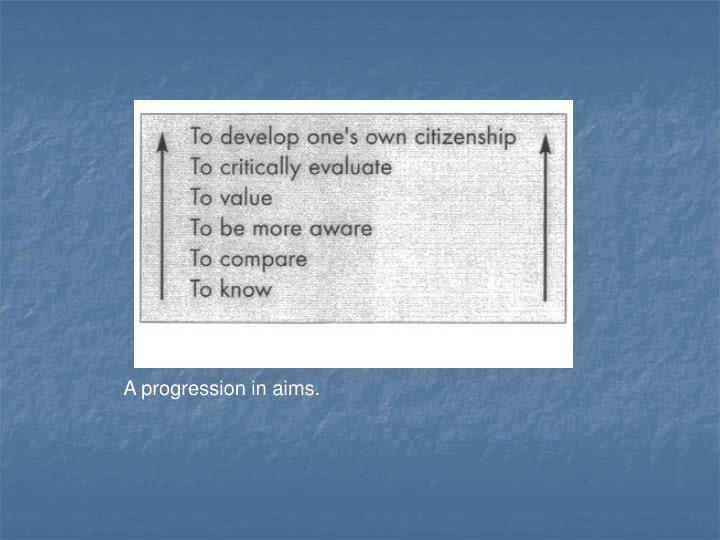 A progression in aims.