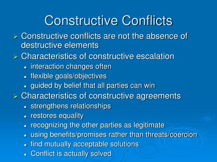 Constructive Conflicts