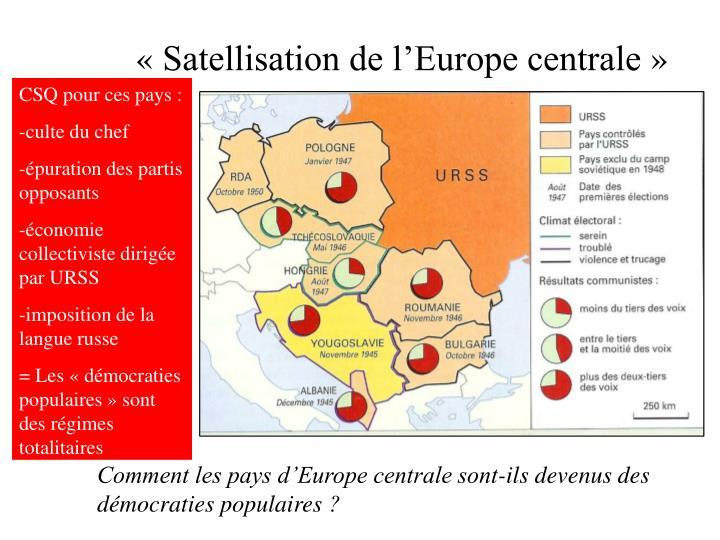 «Satellisation de l'Europe centrale»