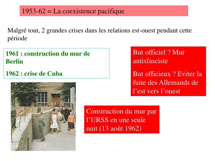 1953-62 = La coexistence pacifique