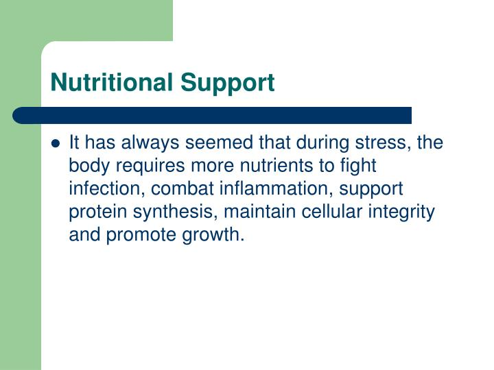 Nutritional Support