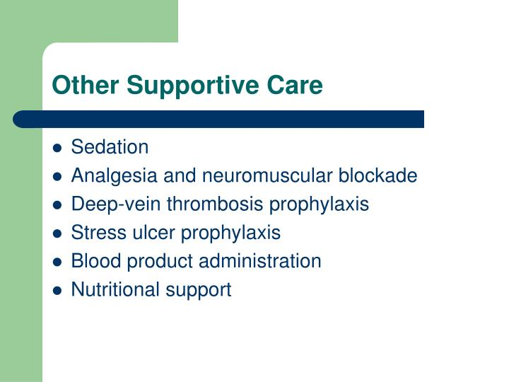 Other Supportive Care