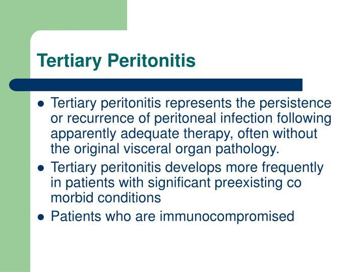 Tertiary Peritonitis