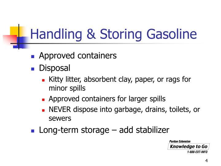 Handling & Storing Gasoline