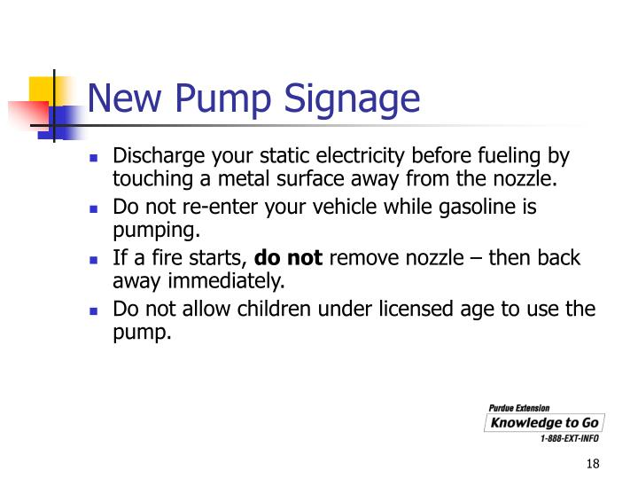 New Pump Signage