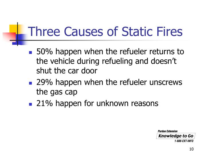 Three Causes of Static Fires