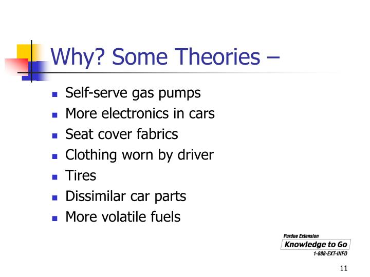 Why? Some Theories –