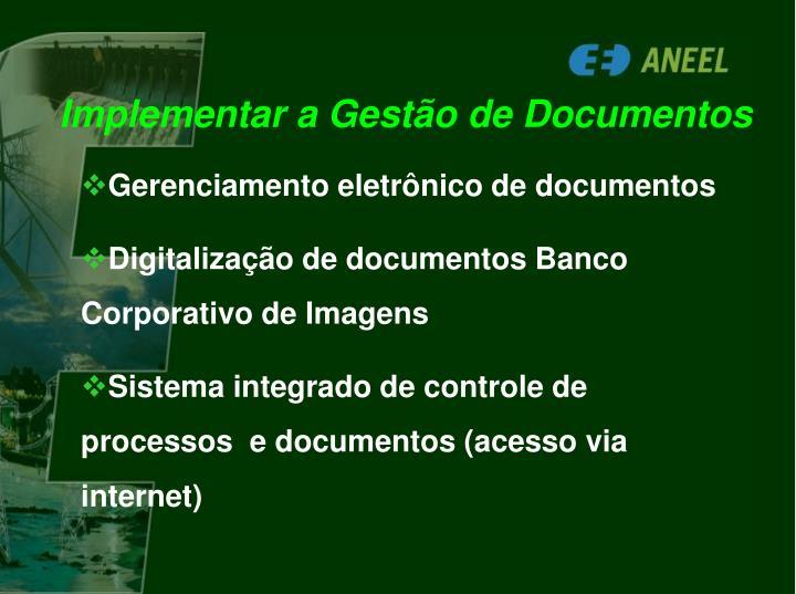 Implementar a Gestão de Documentos