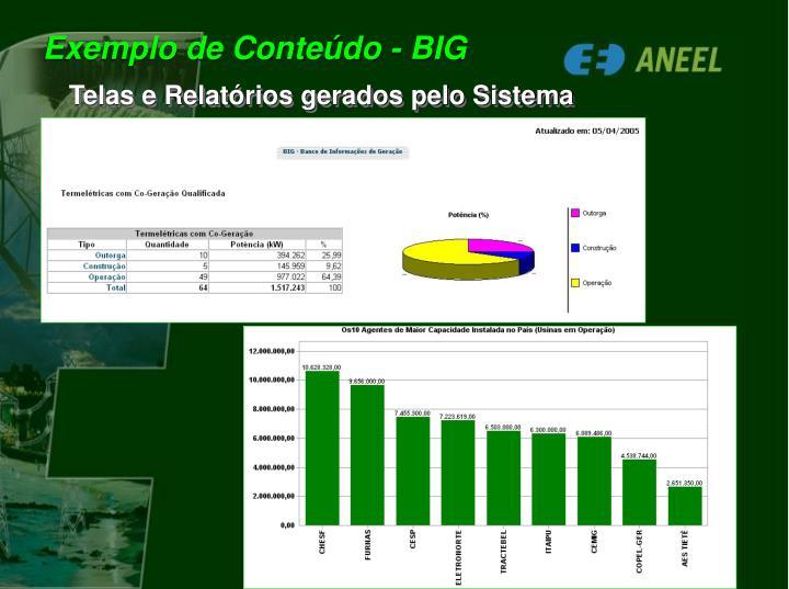 Exemplo de Conteúdo - BIG