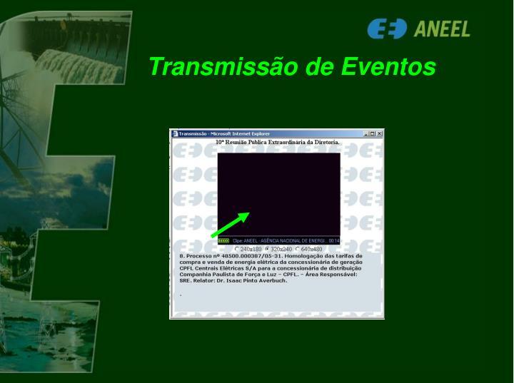Transmissão de Eventos