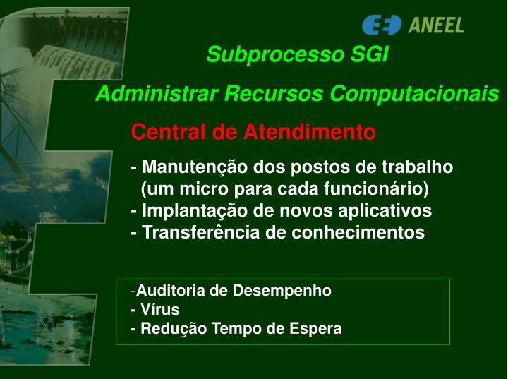 Subprocesso SGI