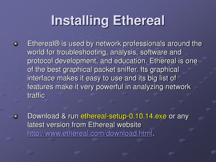 Installing Ethereal