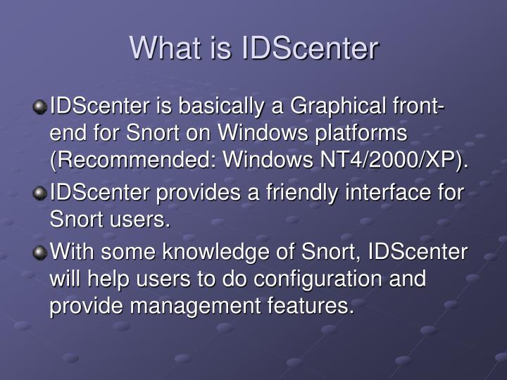 What is idscenter