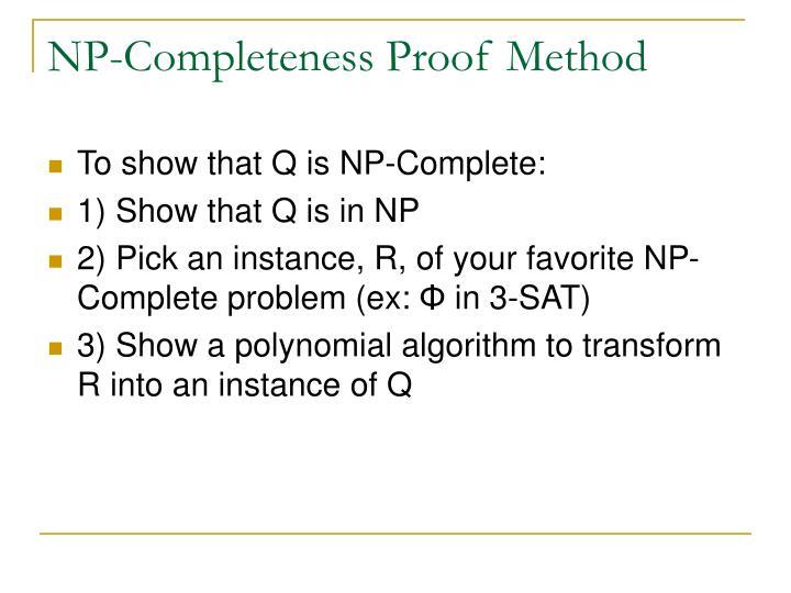 NP-Completeness Proof Method
