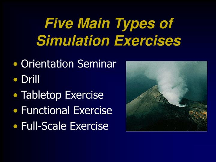 Five Main Types of Simulation Exercises