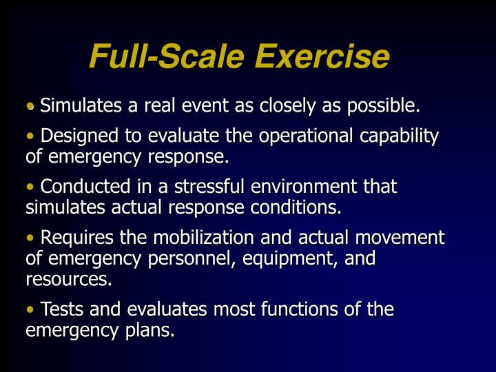 Full-Scale Exercise
