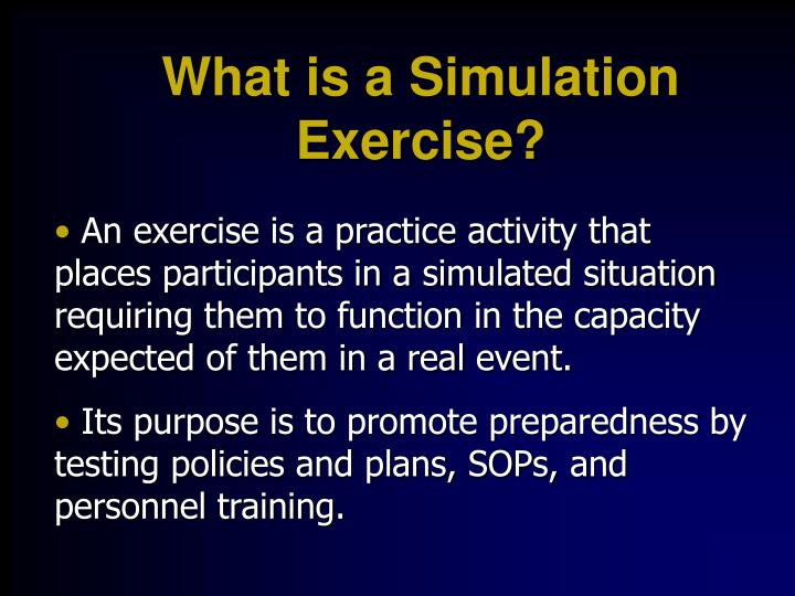 What is a Simulation Exercise?