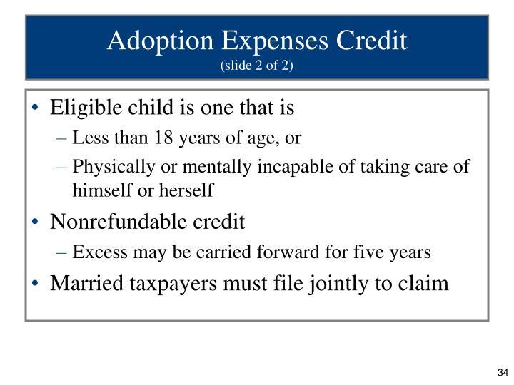 Adoption Expenses Credit