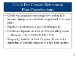 credit for certain retirement plan contributions