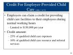 credit for employer provided child care slide 1 of 2