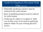 credit for employer provided child care slide 2 of 2