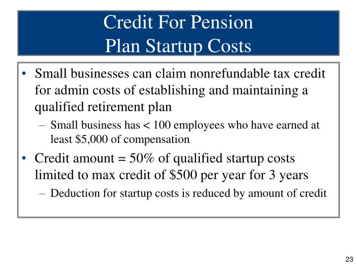 Credit For Pension