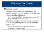 education tax credits slide 2 of 5