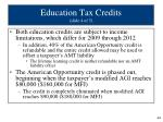 education tax credits slide 4 of 5