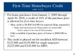 first time homebuyer credit slide 1 of 5