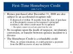 first time homebuyer credit slide 5 of 5