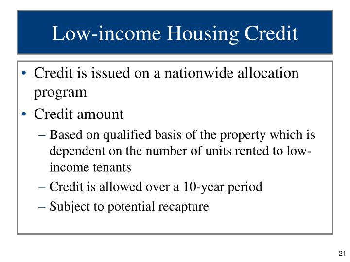 Low-income Housing Credit