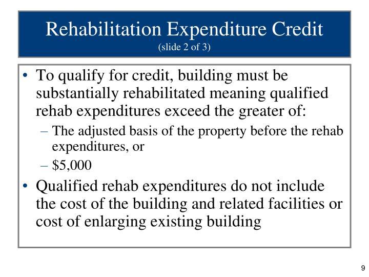Rehabilitation Expenditure Credit