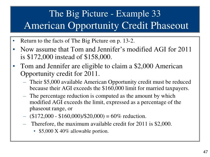 The Big Picture - Example 33