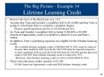 the big picture example 34 lifetime learning credit