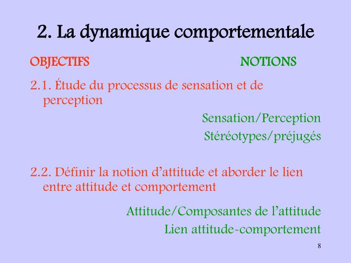 2. La dynamique