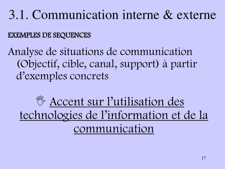 3.1. Communication interne & externe