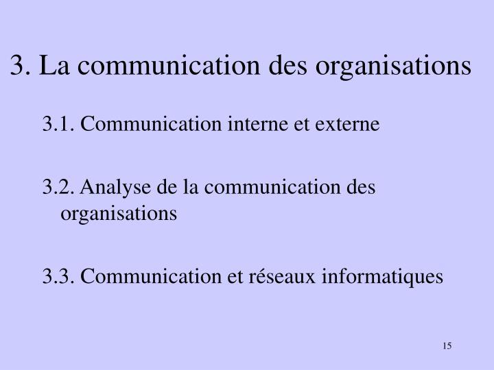 3. La communication des organisations