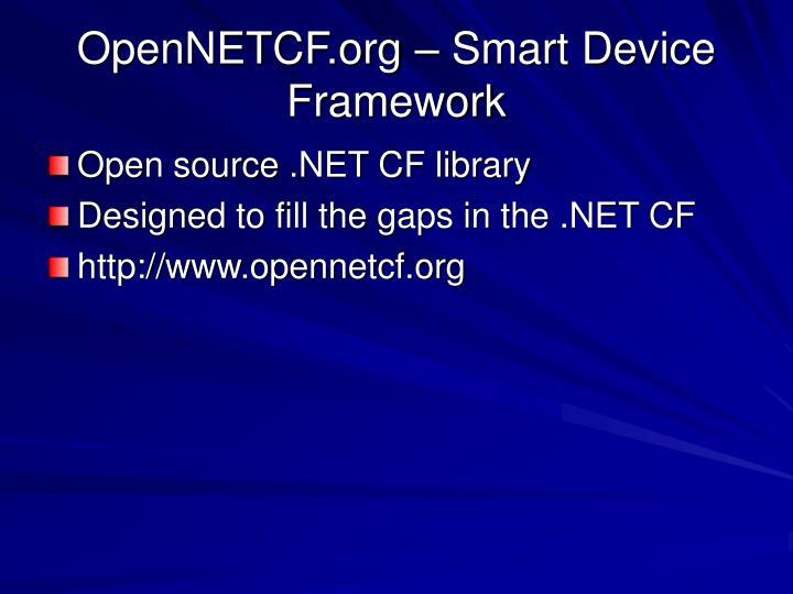 OpenNETCF.org – Smart Device Framework