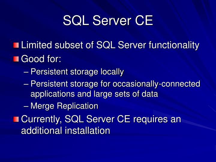 SQL Server CE