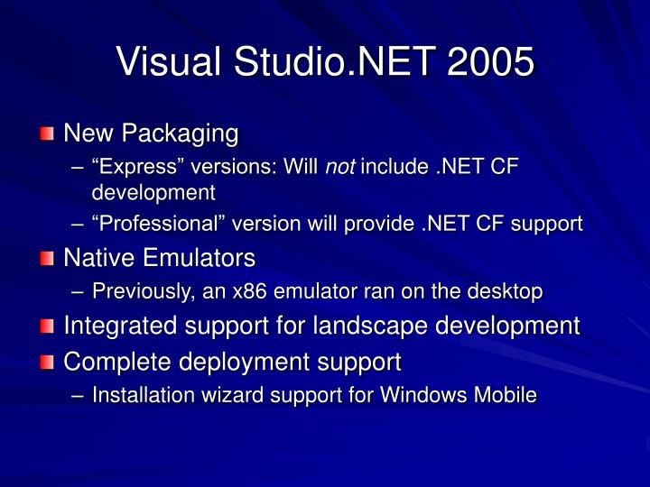 Visual Studio.NET 2005