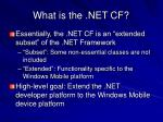 what is the net cf